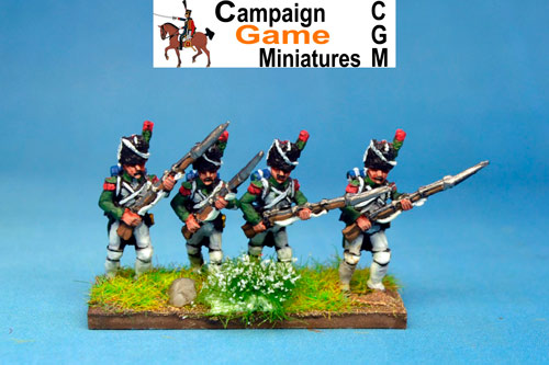 Italian Guard  Chasseurs (Reale) Advancing.