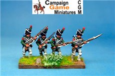 Italian Guard  Chasseurs (Reale) Advancing.