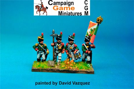 Italian Guard  Chasseurs (Reale) Command Standing
