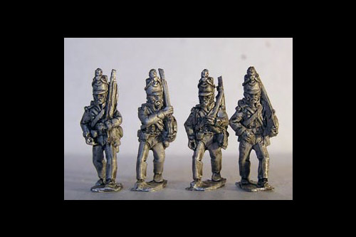 Peninsular British Riflemen Marching 12 figs