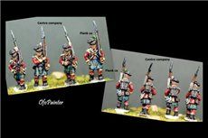 Scottish infantry in Kilts Marching 12 figs