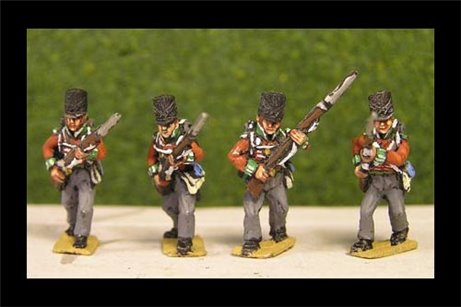 British / KGL Line Infantry Advancing Covered Shako 12 figs