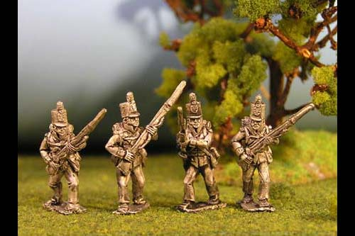 British Line Infantry Advancing Stovepipe Shako 12 figs