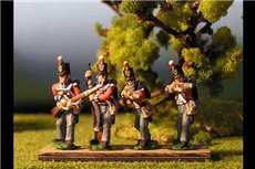 British Line Infantry Firing/Skirmish Stovepipe Shako12 figs