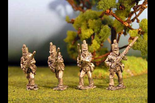 British Light Infantry Advancing Stovepipe Shako 12 figs