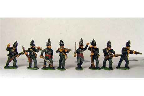 Peninsular British Riflemen Firing Line / Skirmish 12 figs