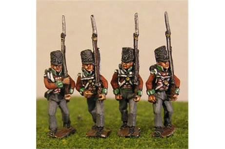 Peninsular British / KGL Line Infantry Marching Covered Shako 12 figs (1813-15)