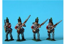 Peninsular British Light Infantry Advancing Stovepipe Shako 12 figs