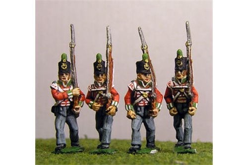 Peninsular British Light Infantry Marching Stovepipe Shako 12 figs