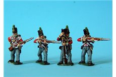 Peninsular British Light Infantry Firing/Skirmish Stovepipe Shako12 figs
