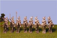 Peninsula Heavy Cavalry (Dragoons) Sword on Shoulder in Bicorne with command x 8 (Unitl 1812 helmet)