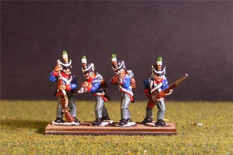 Orange Nassau Skirimish Flank company (8 figures, 4 variants including sergent)
