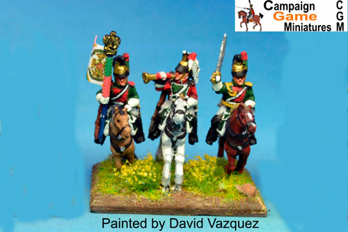 Napoleon Dragoons Command (Trumpeter x2 and Officers x2)