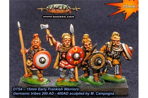 Early Frankish Warriors x8