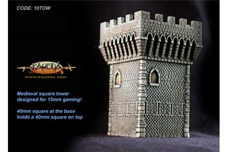Medieval square tower 40x40mm base