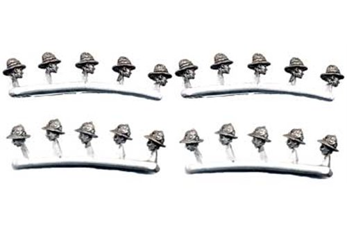 Convertion pack with heads with Colonial Infantry helmet (10 with glasses, 10 whithout glasses)