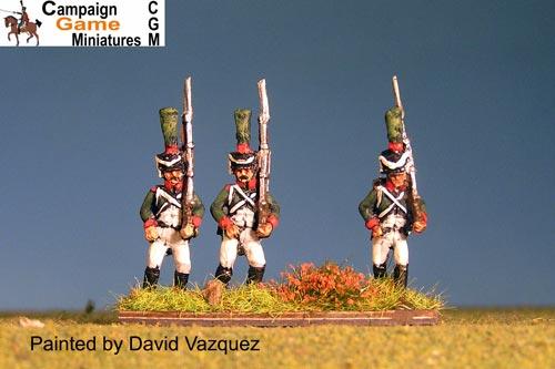 "Italian Guard ""Conscripts"" (Reale) in Shako Marching."