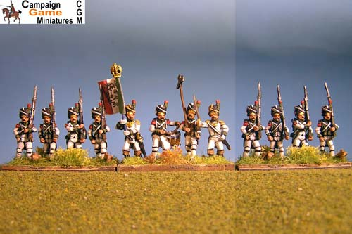 Italian Guard Velite Grenadiers (Veliti Reale) in Bearskin Marching.
