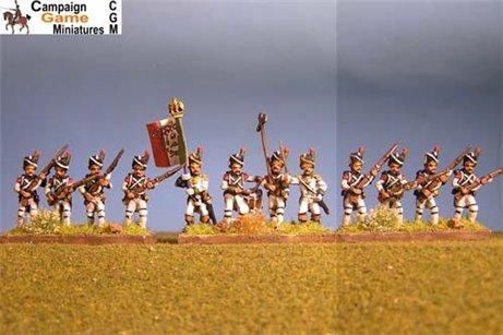 Italian Guard Velite Grenadiers (Veliti Reale) Advancing.
