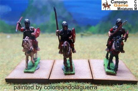 Roman Cavalry with spears & shields x 3