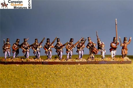 Grenzer Light Infantry Advancing with Command