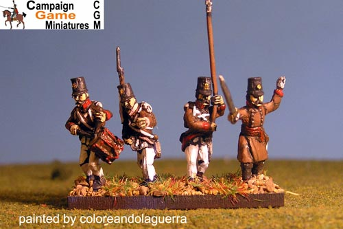 Single Figures Grenzer Light Infantry Command