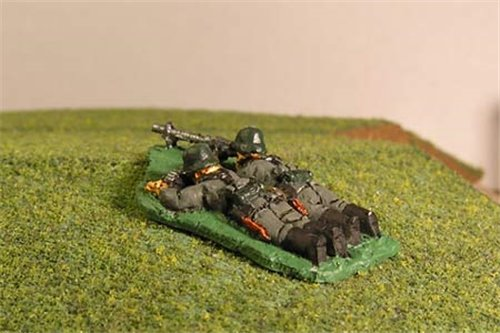 Early War German MG34 Light Machine Gun teams Prone