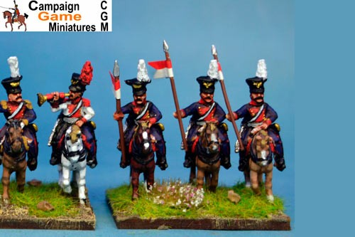 Polish Lancers Lance Up Czapka x 4