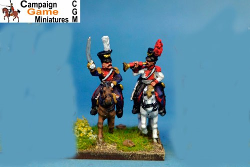 Polish Lancer Command Officer & Trumpeter x 4