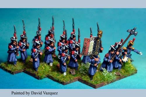 Middle Guard Grenadiers Marching in Gretacoat at Waterloo 1815. 3rd & 4th Regiments