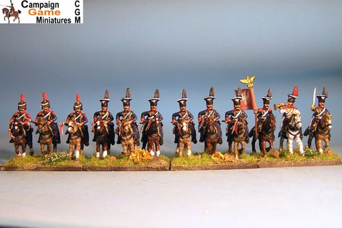 Polish Lancers Charging, Elites in Colpack with command