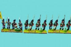 Austrian Landwehr Marching, in Uniform, Corséhut hat