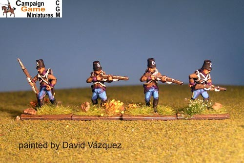 Grenzer Light Infantry Skirmishing/ Firing Line with Command