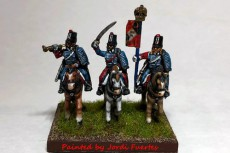 French Hussars Command Charging (x4)