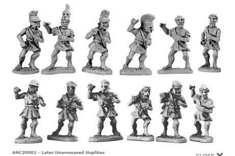 Unarmoured Hoplites (Random 8 of 17 designs)