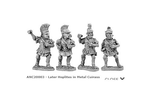 Hoplites in metal cuirass (Random 8 of 4 different designs)