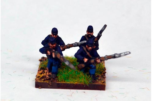 Infantry in Kepi Kneeling