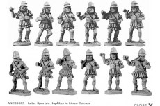 Spartan Hoplites in linen cuirass (Random 8 of 12 designs)