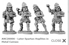 Spartan Hoplites in metal cuirass (Random 8 of 4 different designs)