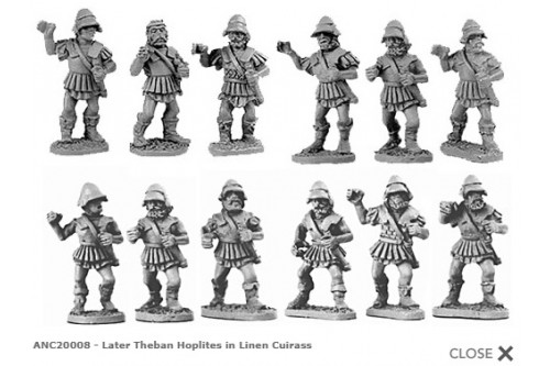 Theban Hoplites in linen cuirass  (Random 8 of 12 designs)