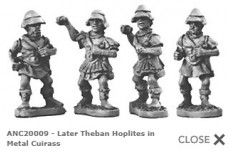 Theban Hoplites in metal cuirass (Random 8 of 4 different designs)