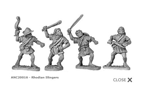 Rhodian slingers (random 8 of 4 designs)