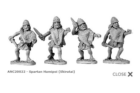 Spartan Hamippoi  (random 8 of 4 designs)