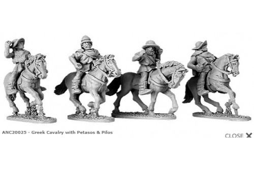 Greek Cavalry with Petasos & Pilos (random 4 of 4 designs)