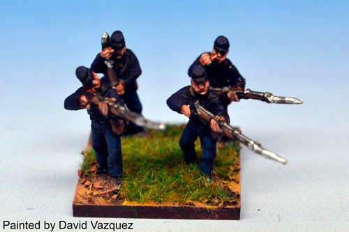 Infantry in Kepi Firing and loading