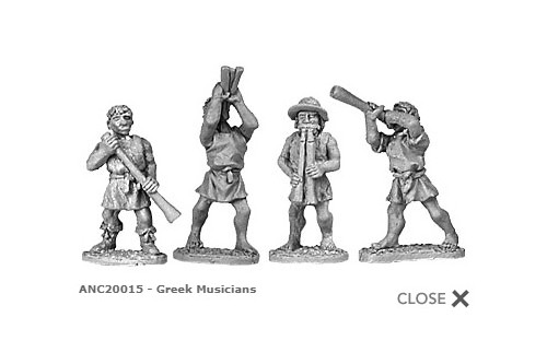Greek musicians (random 8 of 4 designs)