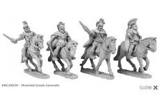 Mounted Greek generals (random 4 of 4 designs)