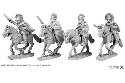 Mounted Spartan generals (random 4 of 4 designs)