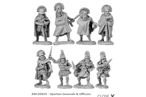 Spartan Generals & Officers (random 8 of 8 designs)