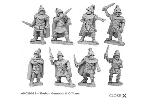 Theban Generals & Officers (random 8 of 8 designs)
